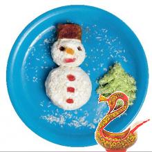 Творожный снеговичок