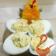 Яйца с зеленью