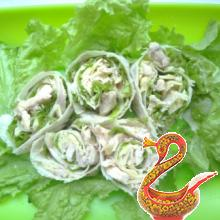 Закуска «Зеленые розочки»