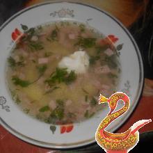 Суп с колбаской (кто любит быстро и вкусно)