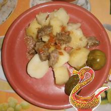 Картошка по домашнему с мясом