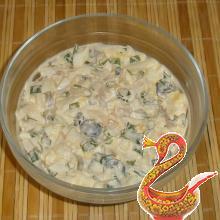 Вкусный салат из кальмаров рецепт с фото