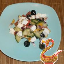 Греческий салат пошаговый рецепт