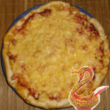 Пицца домашняя рецепт с колбасой