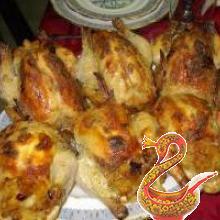 Жареные фазаны с пикантной начинкой из каштанов