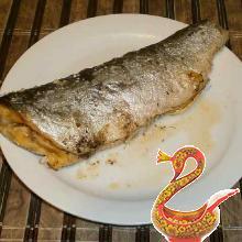 Запеченая рыба с укропом