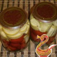 Маринованные кабачки с помидорами на зиму