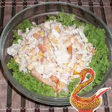 Простой салат из пекинской капусты