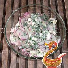 Салат из редиса рецепт