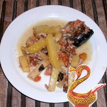 Жаркое из рыбы в горшочках