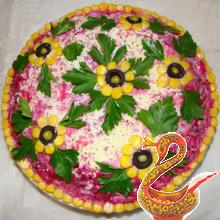 Russian Shuba salad - herring salad recipe