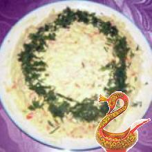Ананасовой-сырный зимний салат