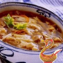 Суп со свининой, грибами и орехами