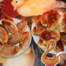 Пирожки сдобные с яблочками