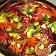 Мексиканский салат из капусты.