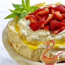 Миндальный торт Павлова с лимонным творогом