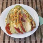 Кабачки веером рецепт с колбасой